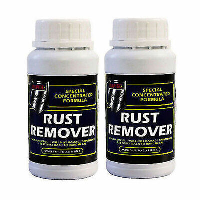 2 x Concentrated Rust Remover Liquid Solution Removes Metal 200ml Makes up to 2L