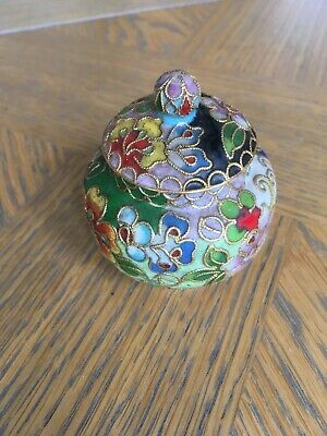 Chinese Cloisonne Enamelled Miniature Ginger Jar And Cover