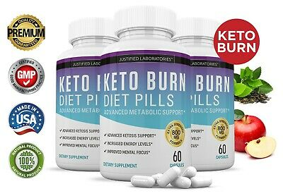 Keto Diet Pills Burn BHB Ketogenic Weight Loss Supplement Fat Burner 90 Day
