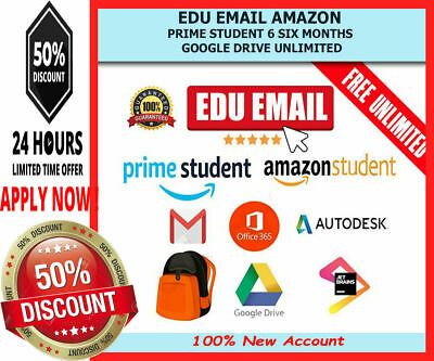 Edu Email 6 Months Amazon Prime Office365 US Student Mail ✅Instant Delivery✅
