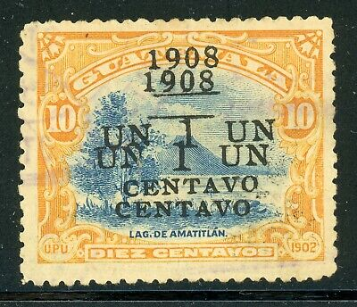 Guatemala Specialized Selections: Scott #133a 1c/10c DOUBLE SCHG Forgery