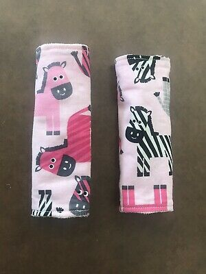 Cute Baby/Toddler Stroller/Car seat Strap Covers - Reversible