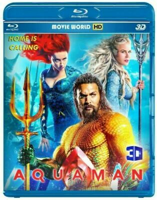 Aquaman(3D)+Bumblebee(2D) Blu-ray only 2019 2in1 Free ship Offer price***