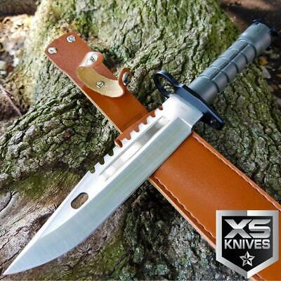 """13"""" TACTICAL SURVIVAL M9 Bayonet Military COMBAT Fixed Blade Hunting Knife BOWIE"""
