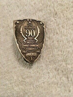 Vintage Harley Davidson 90th Anniversary The Reunion Police 1 Pin