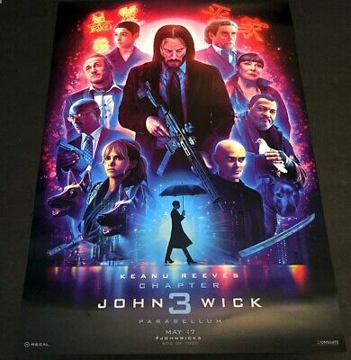 """John Wick: Chapter 3 - Parabellum Poster 13"""" X 19""""  Number 603 of 1000"""