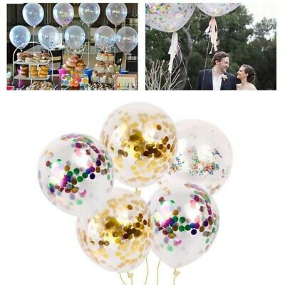10pcs 12inch Latex Foil Confetti Balloons Baby Shower Wedding Party Decoration