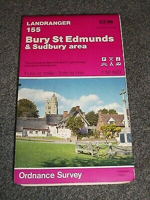 Ordnance Survey Map.155.Bury St Edmunds & Sudbury Area.1986.
