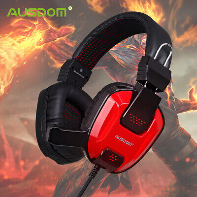 AUSDOM Gaming Headphone Headset 3.5mm Over-Ear Earphone & Microphone For PS4 PC