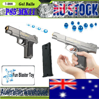 Gel Gun P85 MK11 Gel Ball Blaster Toy Gun Manual Pistol Toy Mag-fed 7-8mm Gel AU