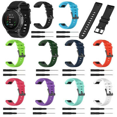 Replacement Silicone Rubber Band Strap Wristband For Garmin Fenix 5X/5 GPS Watch