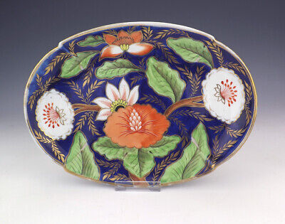 Antique English Porcelain - Hand Painted Flower Decorated Bowl - Lovely!