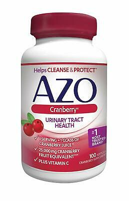 AZO Cranberry Urinary Tract Health Dietary Supplement   1 Serving = 1 Glass of C