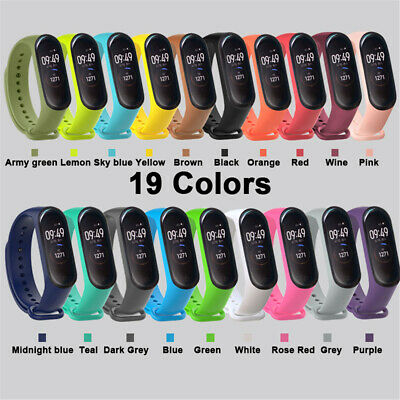 Silicone Bracelet Wrist Strap Replacement Wristband Band for Xiaomi Mi Band 4/3.