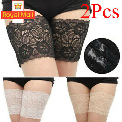 1 Pair Anti-Chafing Thigh Pocket Bands Women Stylish Non Slip Lace Elastic Sock