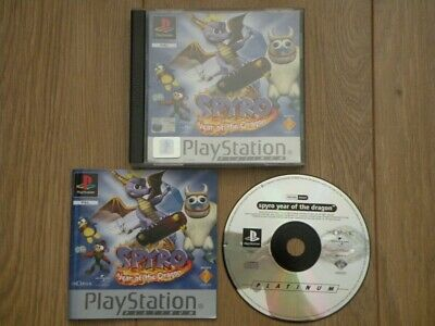Sony PlayStation 1 Game * SPYRO YEAR OF THE DRAGON - PLATINUM * Complete Rare