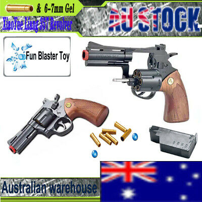 New 357 Revolver Gel Ball Blaster Gun XiaoYue Liang Toy Pistol 6-7mm Gelsoft AU