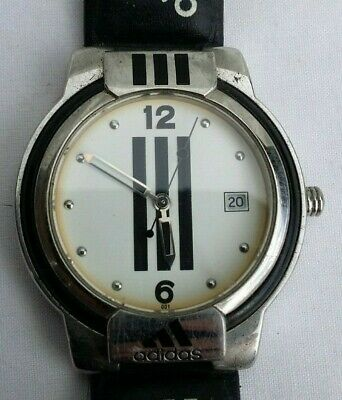 Genuine Vintage Men's Adidas Wristwatch With Original Leather Strap, 23 Cm Long.