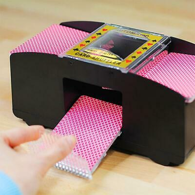Electric Automatic Card Shuffler Wooden For Poker, Texas Bridge New Uno! 丨us