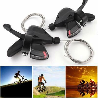 Mountain Bike 3x8 24 Speed Shift Lever Shifter Cable Trigger for Shimano Acera