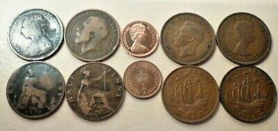 Buy 3 Get 1 Free 1861 To 1967 Large/Old Half Penny Coins Your Choice Of Year