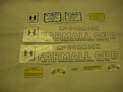 IHC Farmall Cub (Late) Tractor Decal Set NEW FREE SHIPPING