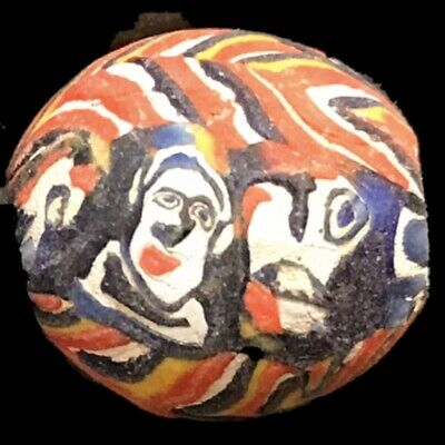 Very Rare Phoenician Face Bead 300Bc Super Quality (Large Size) (1)