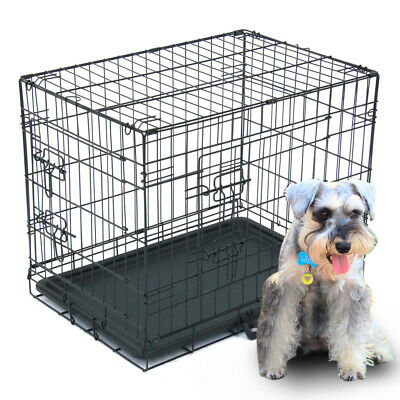 "Pet Kennel Cat Dog Folding Crate Wire Metal Cage Door 48"" 42"" 36"" 30"" 24"" 20''"