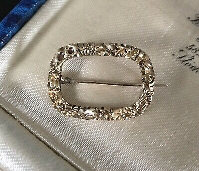 ANTIQUE GEORGIAN / VICTORIAN 9ct GOLD TINY LACE BROOCH PIN