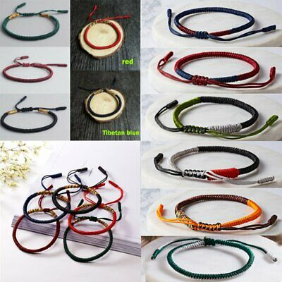 Couple Women Men Buddhist Love Lucky Charm Tibetan Bracelets Bangles Knot Rope