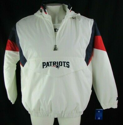 the latest 74241 39d05 NEW STARTER NEW England Patriots NFL 1/2 ZIP HOODED PULLOVER ...