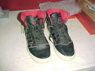 sale retailer 3daed a00ae Adidas NEO White Black Red Sole Male Size 9 High Top Shoes