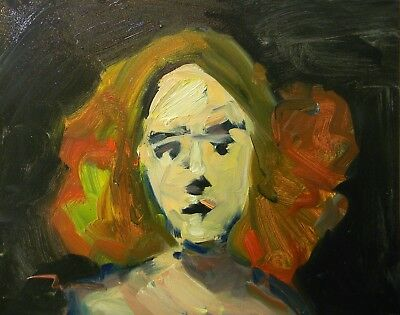 Jose Trujillo - Oil Painting Modern Expressionist Portrait Woman Girl Original