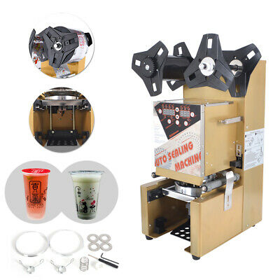 350W Commercial Automatic Cup Sealing Machine Boba Bubble Tea Coffee Party