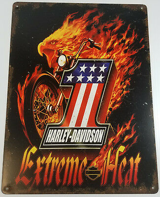 Harley Davidson Motorcycles Extreme Heat Eagle Number One Heavy Duty Metal Sign