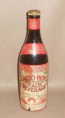 1906 Antique Quack Medicine Bottle Malto-Hopo Herb Phosphate Camden NJ