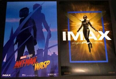 """Marvel Studios Ant-Man and The Wasp Week 1 and Week 2 IMAX Posters 13"""" X 19"""""""