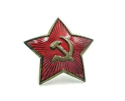 RED STAR WW2 cap cockade original USSR ARMY AWARD MEDAL AWARD BADGE OFFICERS