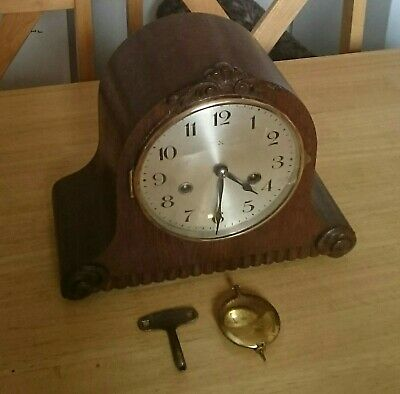 Antique / Vintage 8-Day HAC  German Mantle Clock