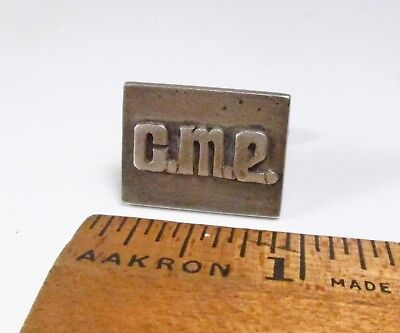 1 Stray Vintage 1920s Chicago Silver Co. Arts & Crafts Sterling Silver Cufflink