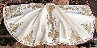 Stunning Antique Ottoman Embroidered Felt Cape Textile Embroidery Bindalli !