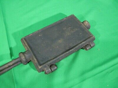 Antique cast iron Square Rectangle Dutch waffle iron #13 Vintage
