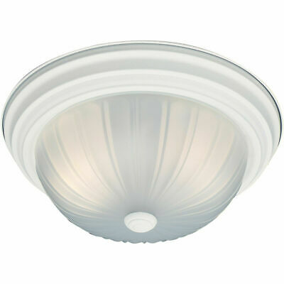White Dome light with frosted glass dome by Thomas Lighting  SL-8681-18
