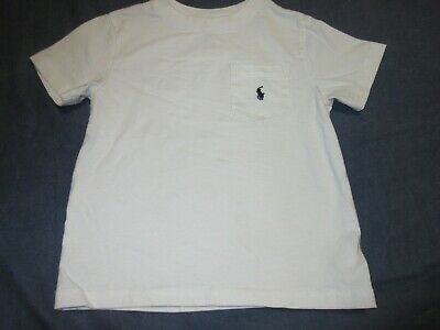 Boys White Pocket Tee Shirt by POLO RALPH LAUREN - Sz 3/3T - Summer Basic