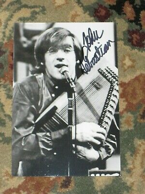 Singer JOHN SEBASTIAN Signed WOODSTOCK 4x6 Photo LOVIN' SPOONFUL AUTOGRAPH 1J