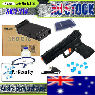 Auto Toy Electric SKD G18 Gel Ball Blaster Gun Water Bullets Mag-fed Toy Pistol