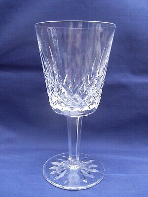 """Waterford Crystal Lismore Cut Glass 6-7/8"""" Water / White Wine Goblet 16 Points"""