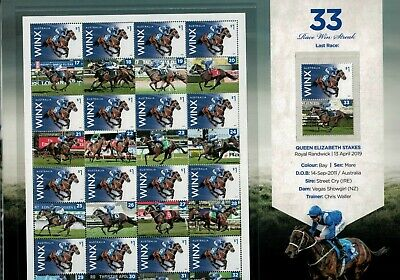2019 WINX The Greatest Limited Stamp Collection $33 Stamps, Picture Tabs