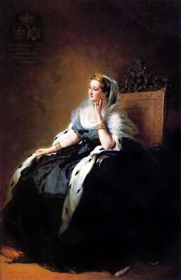 """oil painting handpainted on canvas""""The Queen sitting on the throne"""" N15432"""