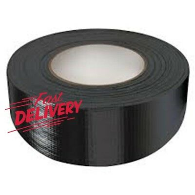 1x Duck Black strong Duct Gaffa Gaffer Waterproof Cloth Tape 48mm 2'' 50m STRONG
